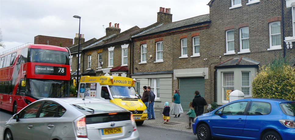 a view of the Peckham Bruderhof community house from the street