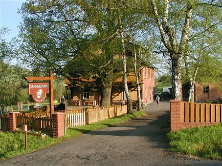 An image of the front entry to the Sannerz community