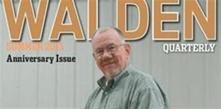 Jerry on the cover of the Walden quarterly magazine