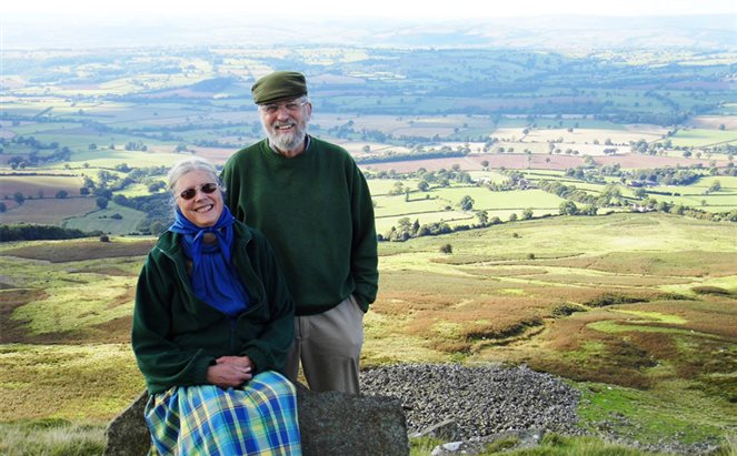 David and Ann on a mountaintop