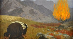 painting of Moses and the burning bush