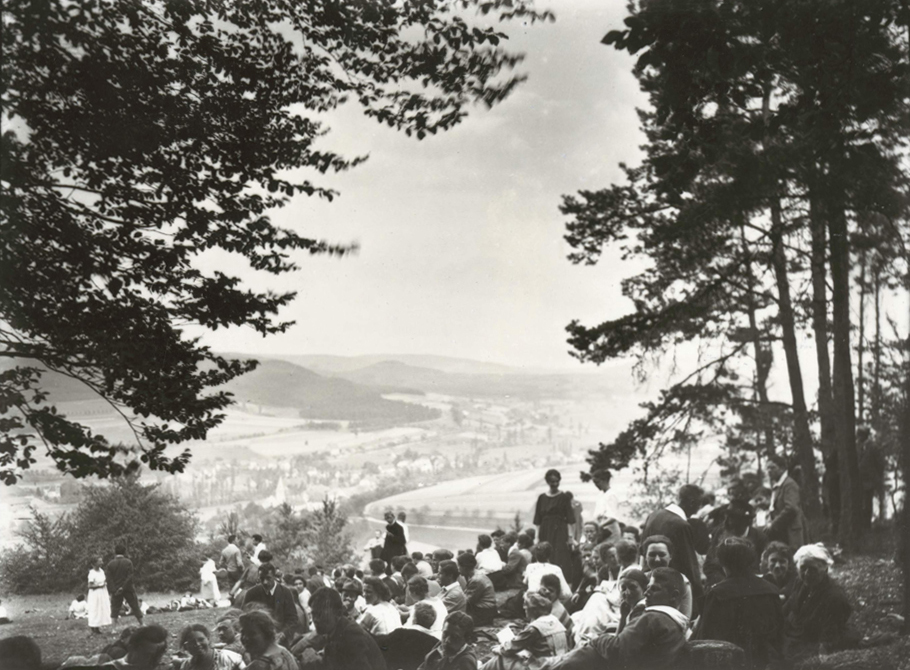 a youth conference on a hilltop in Germany