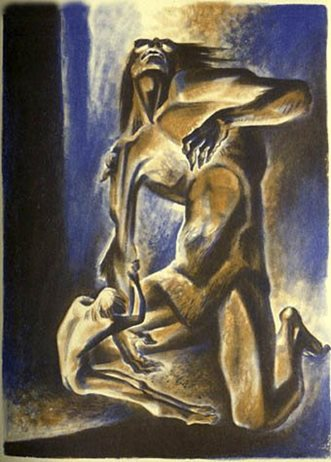painting of Grendel and Beowulf