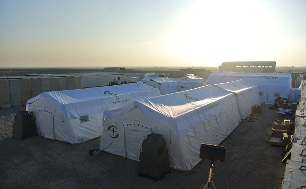 the tents of the field hospital