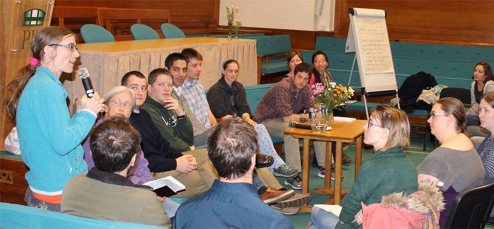 The author participating in a meeting at Taize