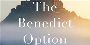 detail from the cover of The Benedict Option